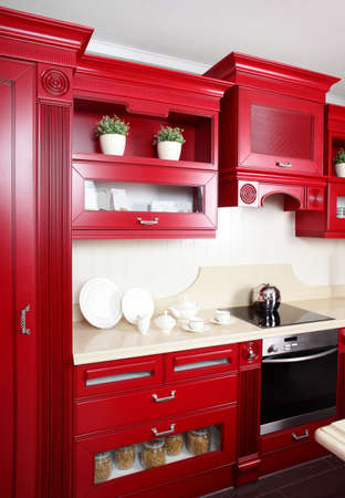 european brand new bright kitchen in the house Stock Photo - 23258356