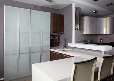 luxury kitchen interior with modern furniture Stock Photo - 24350939