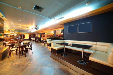 night club interior: european stylish night club with bright lights