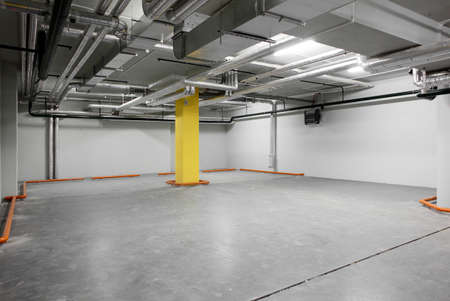 new and modern interior of grey parking photo