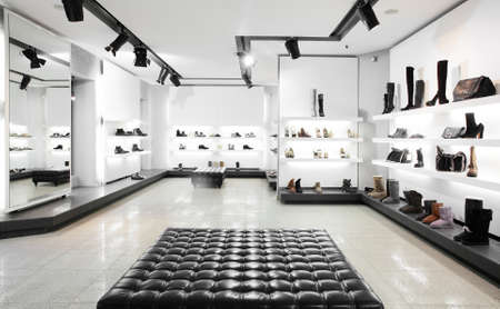 large store: Bright large shoe store with new collection
