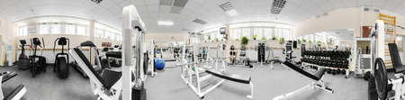 little bit used european sport gym without people