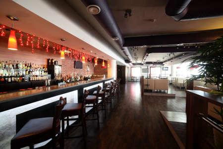 hotel bar: beautiful brand new european restaurant in downtown Stock Photo