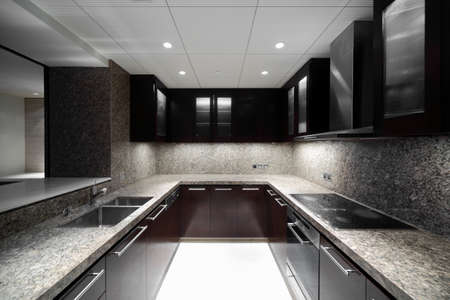 new addition: beautiful and model interior of bright kitchen