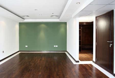 amazing interior of bright and modern empty room photo