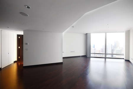 amazing interior of bright and modern empty room photo