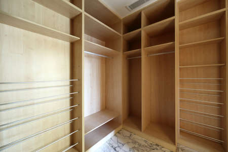 cloakroom: beautiful and modern interior of bright cloakroom