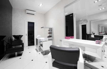beauty store: brand new interior of european beauty salon