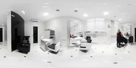store interior: brand new interior of european beauty salon