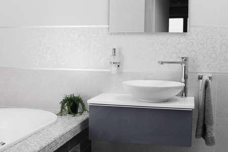 stainless steel water tap in modern interior Standard-Bild