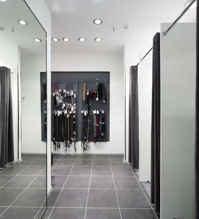 clean room: beautiful and clean interior of dressing room at the store
