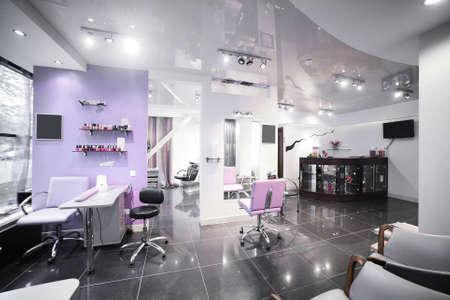 sal�n: nuevo interior marca de sal�n de belleza europeo Foto de archivo