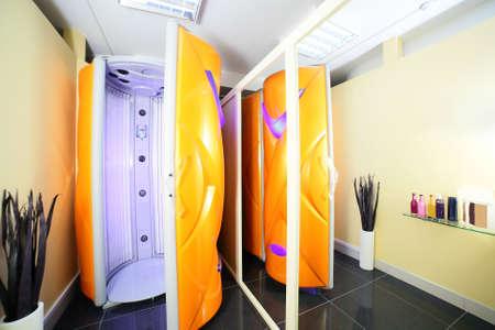 bright and colorful interior of european solarium Standard-Bild