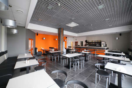 beautiful brand new european restaurant in downtown photo