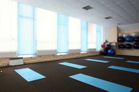 little bit used european sport gym without people photo