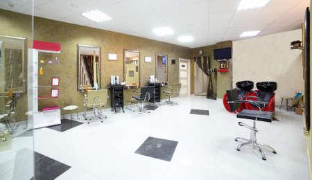 beauty shop: brand new interior of european beauty salon