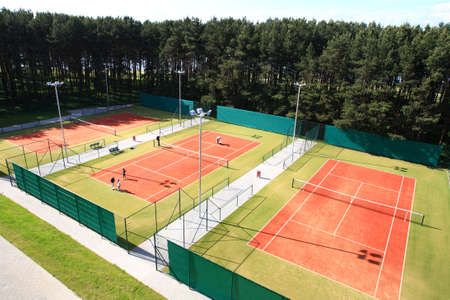 atmosphere construction: interior of modern tennis european sport club