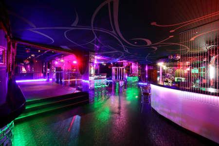 colorido interior brillante y hermoso club nocturno Foto de archivo