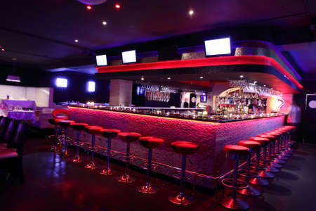 colorful interior of bright and beautiful night club Zdjęcie Seryjne - 32329371
