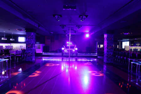 night table: colorful interior of bright and beautiful night club