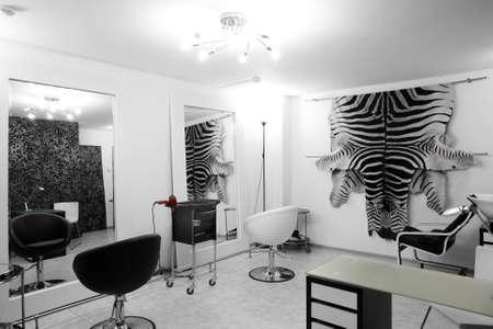 brand new interior of european beauty salon Stock Photo