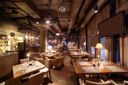 beautiful brand new european restaurant in downtown Foto de archivo