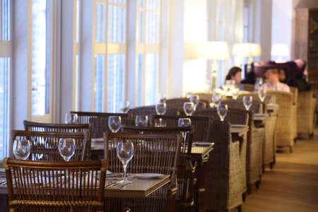 beautiful brand new european restaurant in downtown photo