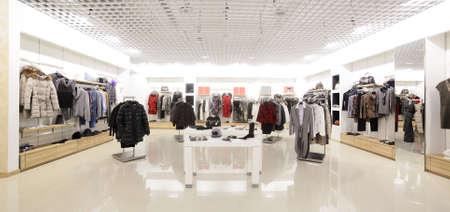 luksusowe i modne nowy wnętrze sklepu tkaniny Zdjęcie Seryjne