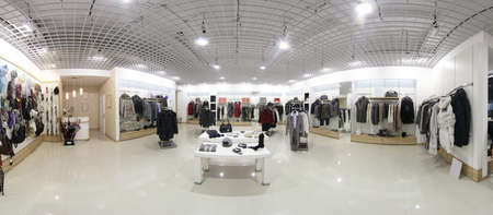 tela blanca: lujo y de moda nuevo interior marca de tienda de ropa Foto de archivo