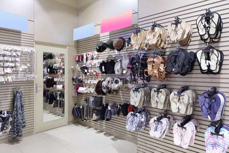 luxury and fashionable brand new interior of accessories store photo