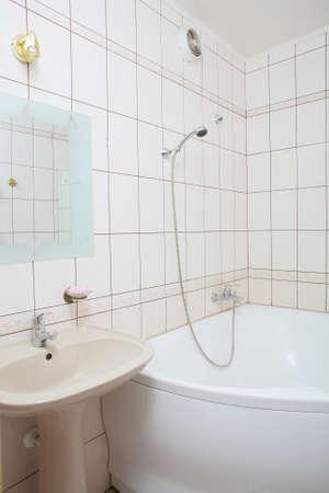 interior of bright and colorful european shower Standard-Bild