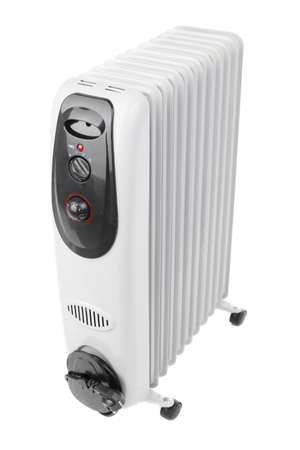brand new oil heater on white background
