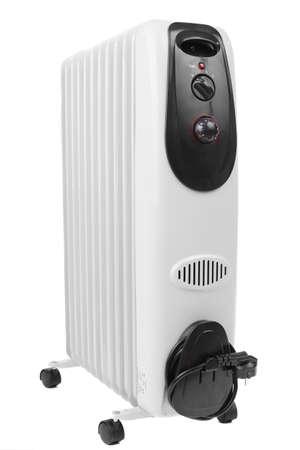 brand new oil heater on white background