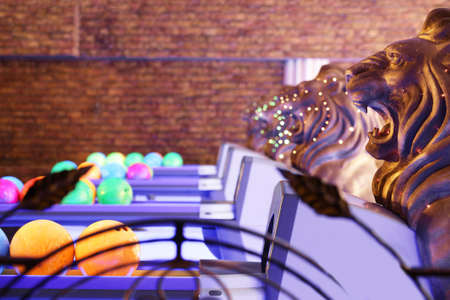 bright and luxury european bowling interior 写真素材 - 97241027