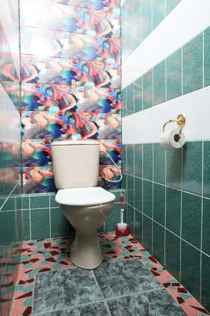beautiful and modern interior of bright cloakroom 写真素材 - 97241052