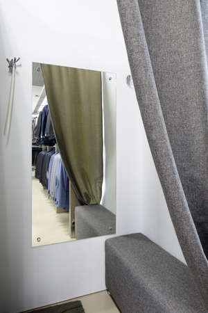 beautiful and clean interior of dressing room at the store 写真素材 - 97241123