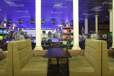 bright and luxury european bowling interior