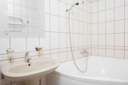 interior of bright and colorful european shower 写真素材 - 97241400