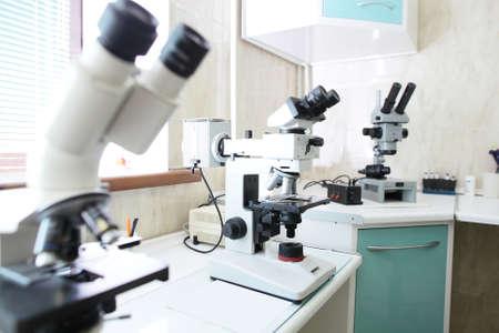bright and luxury european medical cabinet interior 写真素材