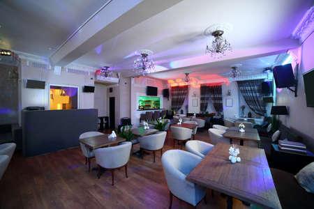 beautiful brand new european restaurant in downtown 写真素材 - 97241615