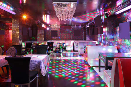 colorful interior of bright and beautiful night club 写真素材 - 97241628