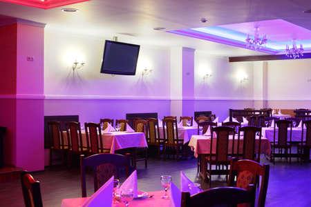 beautiful brand new european restaurant in downtown 写真素材 - 97241675