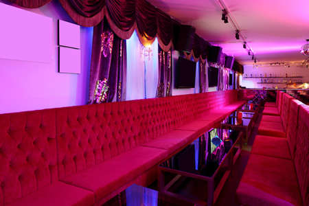 colorful interior of bright and beautiful night club 写真素材 - 97241691