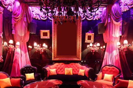 colorful interior of bright and beautiful night club 写真素材 - 97241741