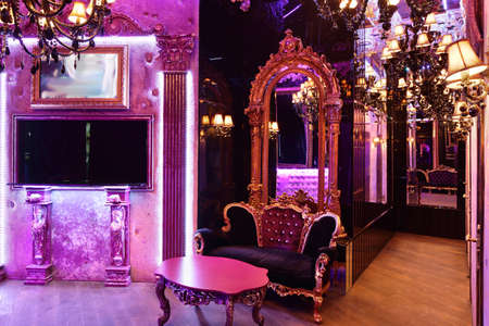 colorful interior of bright and beautiful night club 写真素材 - 97241757