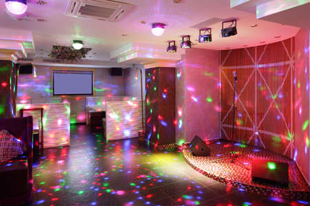 colorful interior of bright and beautiful night club 写真素材 - 97241758