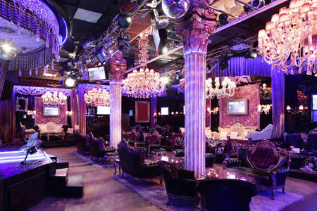 colorful interior of bright and beautiful night club 写真素材 - 97241765