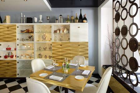 beautiful brand new european restaurant in downtown 写真素材