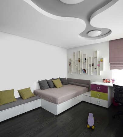 bright and beautiful interior of children room 写真素材
