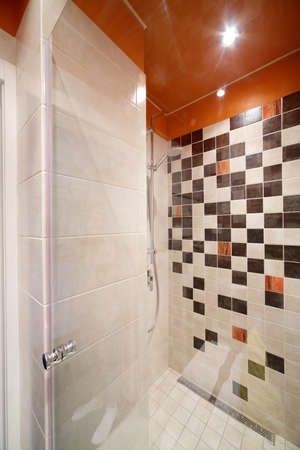 interior of bright and colorful european shower 写真素材
